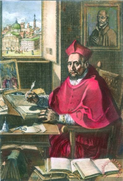 Saint Robert Bellarmine Painting; Saint Robert Bellarmine Art Print for sale